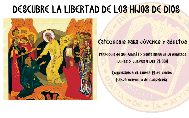 Catequesis para Jóvenes y Adultos en la Parroquia de San Andrés Murcia 2020